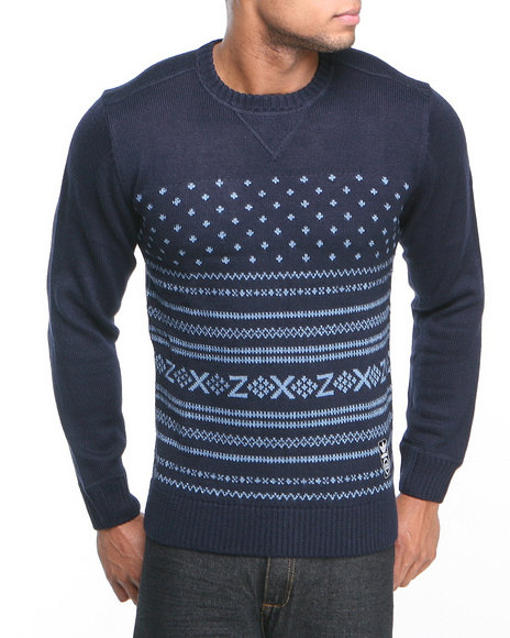 Adidas - Men Navy Sport Knit Crew Sweater