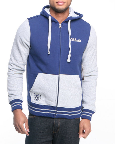 Akademiks Navy Colosseum Fleece Zip Hoody Jacket