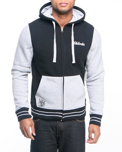 Akademiks Black Colosseum Fleece Zip Hoody Jacket