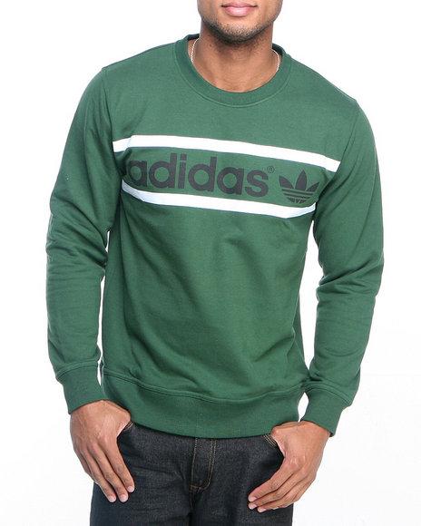Adidas Green Heritage Logo Crewneck Sweatshirt