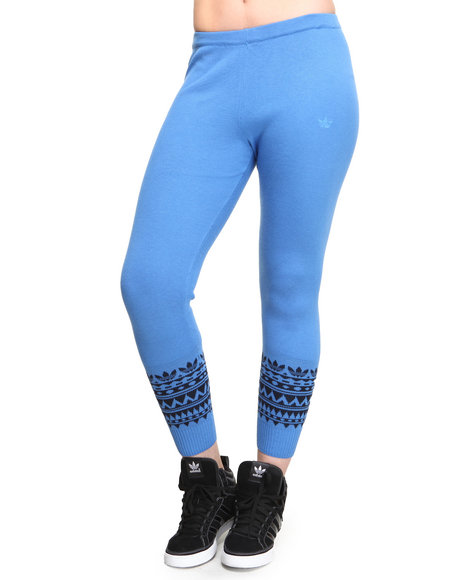 Adidas Blue Patterned Leggings
