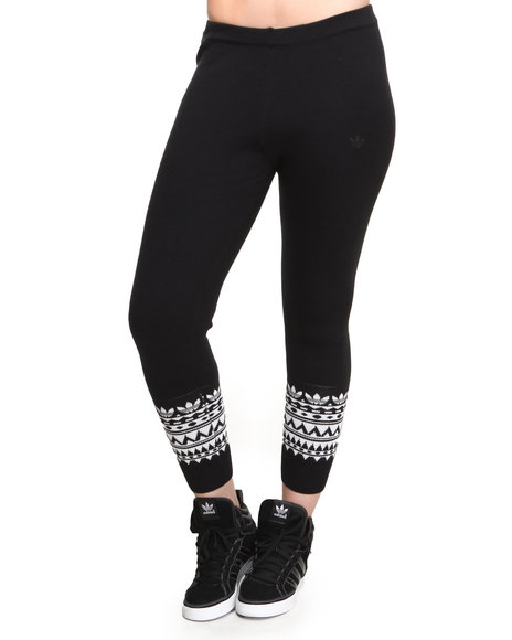 Adidas Black Patterned Leggings