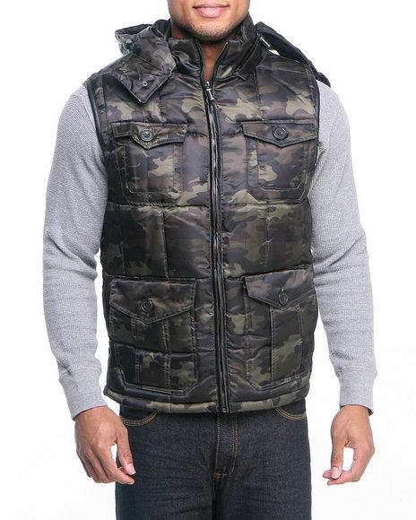 - Men Camo Puffer Vest