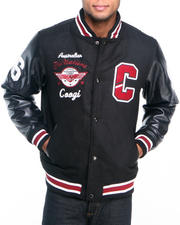 Men - Coogi Wool Varsity Jacket w/ PU Sleeves