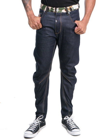 Two Angle Clothing Raw Wash Wurve Curve Elasticated Denim Jeans