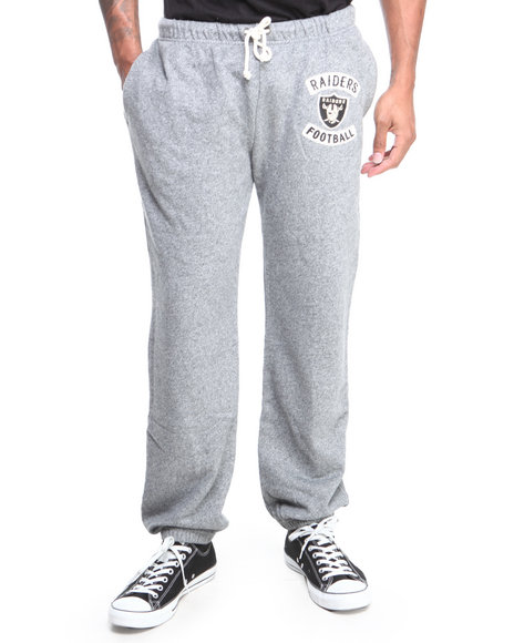 Junk Food - Men Grey Oakland Raiders Sunday Sweatpants With Patch