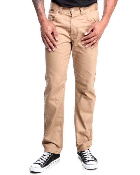 Parish - Men Khaki Brandenburg Overdyed Denim Jeans