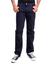 Men - Brandenburg Overdyed Leather Detail Denim Jeans