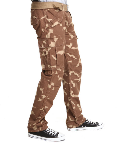 Rocawear - Men Camo Trooper Straight Fit Camo Cargo Pants
