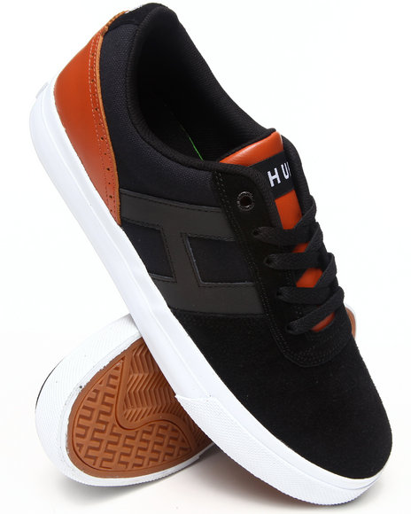 HUF Black,Tan Choice Suede/Leather/Canvas Sneakers