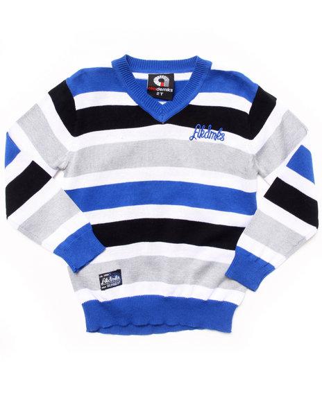 Akademiks Boys Blue Striped V-Neck Sweater (2T-4T)