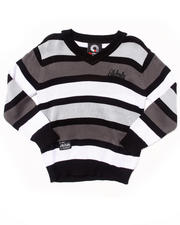 Akademiks - STRIPED V-NECK SWEATER (2T-4T)