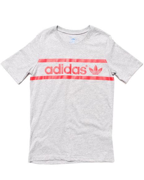 Adidas - Boys Grey Heritage Logo Tee