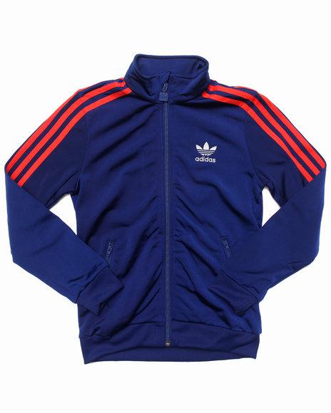 Adidas Boys Navy Firebird Track Jacket