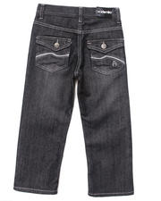 Bottoms - EMBROIDERED FLAP POCKET JEANS (4-7)
