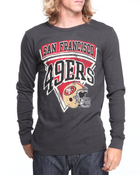 Nba, Mlb, Nfl Gear - Men Black San Francisco 49Ers Time Out Thermal Shirt