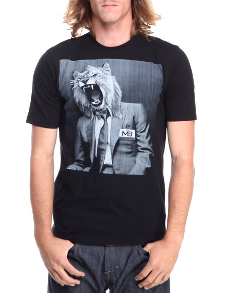 Pelle Pelle By Marc Buchanan - Men Black Mb S/S Lion Tee - $27.99