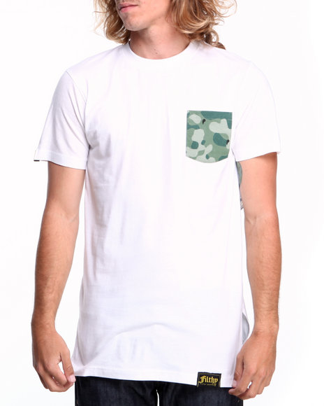 Filthy Dripped - Men White Drip Camo Pocket T-Shirt
