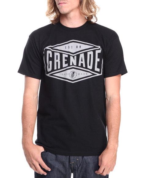 Grenade Black,Grey Trademark Tee
