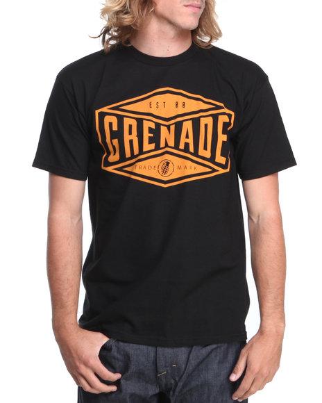 Grenade Orange,Black Trademark Tee