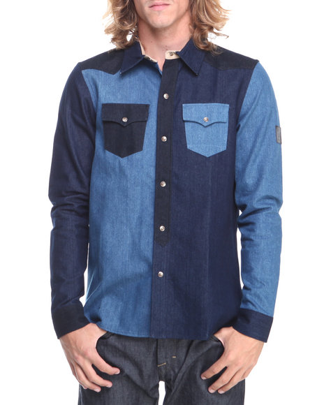 Two Angle Clothing Blue Wulti Denim Shirt