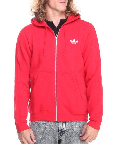 Adidas - Men Red Sport Flocked Hoodie