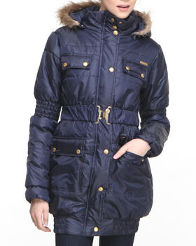 Apple Bottoms - Long Hooded Puffer Coat