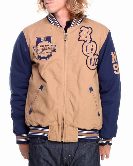Rocawear - Men Khaki Varsity Cotton Jacket