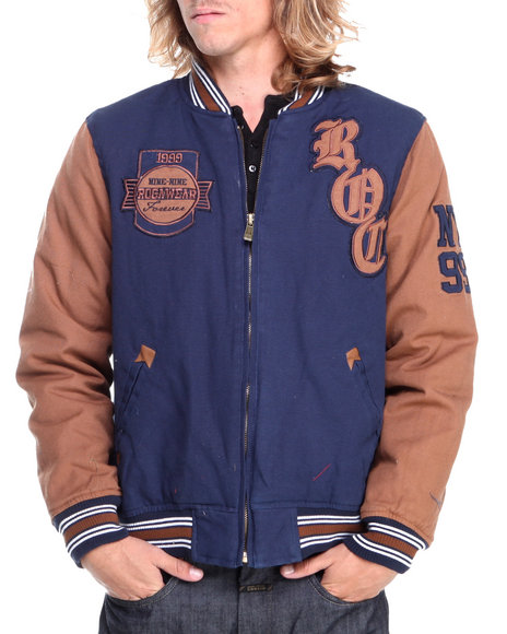 Rocawear Navy Varsity Cotton Jacket