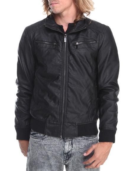 - Black Pu Moto Jacket
