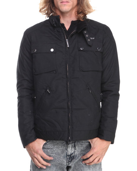 English Laundry Black Wax Twill Jacket