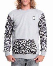 Cyber Monday Deals - Cheetah Silk - Sleeve Crewneck Sweatshirt