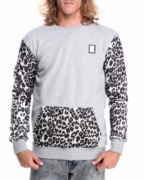 Forte' - Cheetah Silk - Sleeve Crewneck Sweatshirt