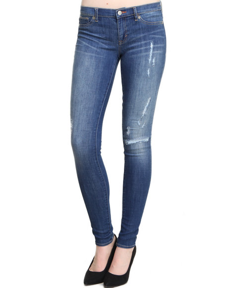 DITTO'S Medium Wash Calypso Distructed Skinny Jean