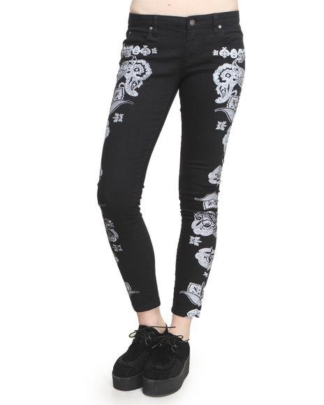 MINKPINK Black Paisley Haze Jeans