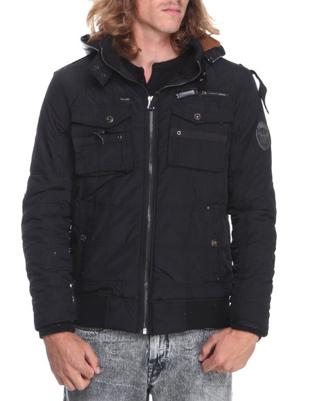 Rocawear Black Hooded Bomber Jacket