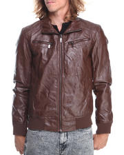 Men - PU Moto Jacket