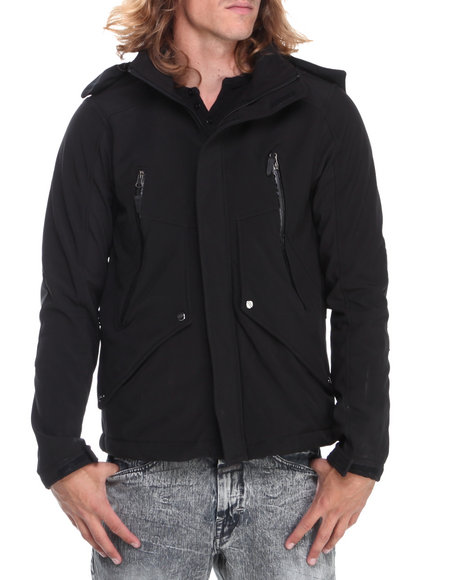 - Black Softshell Jacket W/ Fleece Lining