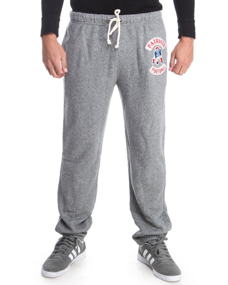 Junk Food - Men Grey New England Patriots Sunday Sweatpants With Patch