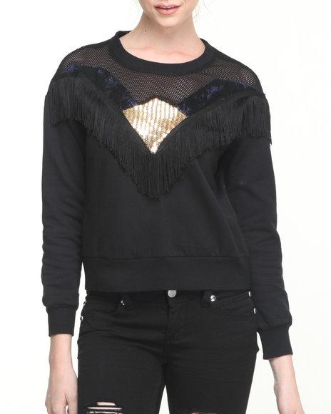 MINKPINK - Black Star Sweatshirt