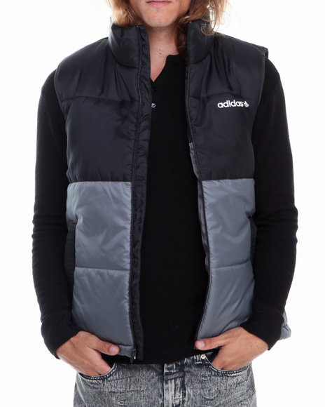 Adidas - Men Grey Ac Padded Vest