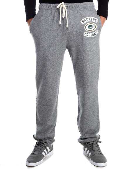 Junk Food - Men Grey Green Bay Packers Sunday Sweatpants With Patch