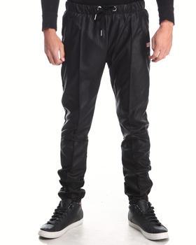 Forte' - Faux Leather Jogging Pants