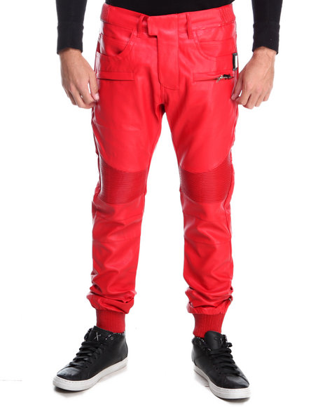 Forte' - Faux Leather Motorcycle Pants