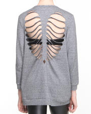Women - Skeletal Heart Sweater
