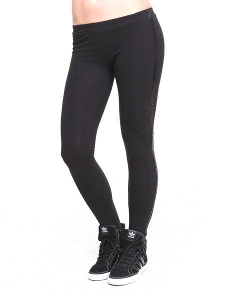 Rampage Black Tuxedo Sequins Stripe Legging