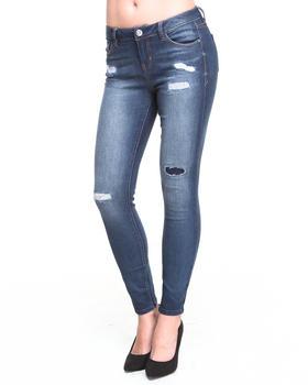 KENSIE - Ankle Biter Rip & Repair Destruction Skinny Jean