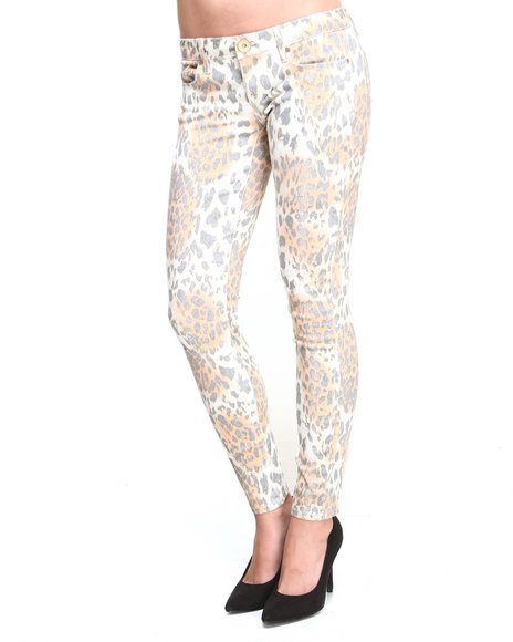 Wallflower - Women Animal Print Animal Sublimation Print Skinny Jean