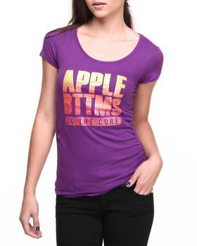 Apple Bottoms - Apple Core Gradient Stones Logo Tee