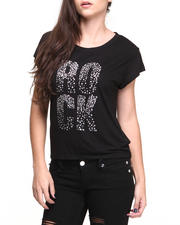 Women - Studded Rock Graphic Tee